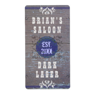 Customizable Home Brewer Beer Saloon Shipping Label