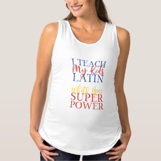 CUSTOMIZABLE Homeschool Latin Superhero Maternity Singlet