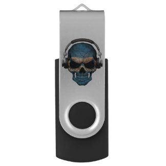 Customizable Honduras Dj Skull with Headphones Swivel USB 2.0 Flash Drive