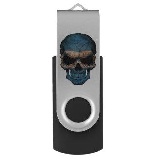 Customizable Honduras Flag Skull Swivel USB 2.0 Flash Drive