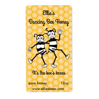Customizable honey bottle label shipping label
