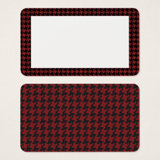 Customizable Hounds Tooth Border Blank Card