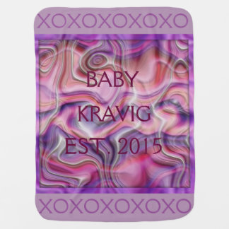 CUSTOMIZABLE HUGS & KISSES BABY BLANKET XOXOXOXO