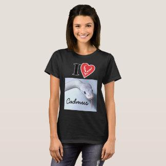 "Customizable ""I (Ball Python Heart) [YOUR SNAKE]"" T-Shirt"