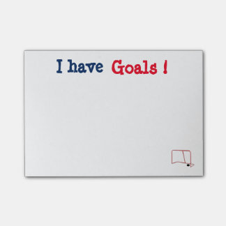 Customizable I have Goals Post It's Post-it Notes