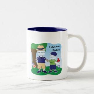 Customizable I Love You Daddy Two-Tone Mug