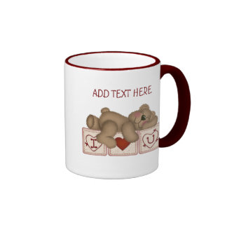 Customizable I Love You Teddy Bear - Mug
