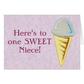 Customizable Ice Cream Card