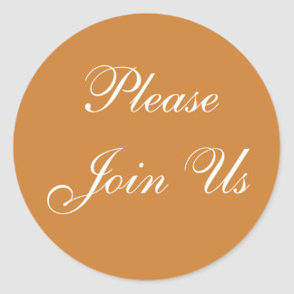 Customizable Invitation Bronze Classic Round Sticker