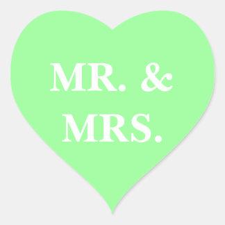 Customizable Invitation Mint Green Heart Sticker