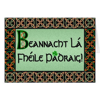 Customizable Irish Gaelic St. Patrick's Day Card