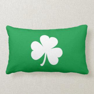 Customizable Irish Shamrock Lumbar Cushion