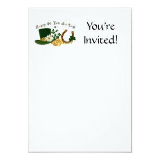 CUSTOMIZABLE Irish St. Patrick's Design 13 Cm X 18 Cm Invitation Card