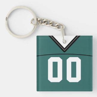 Customizable Jersey Keyring, Football Lacrosse Key Ring