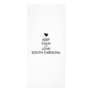 Customizable KEEP CALM and LOVE SOUTH CAROLINA Customised Rack Card