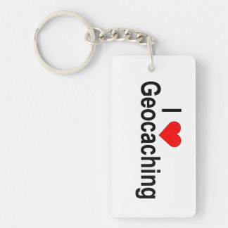 Customizable Key Chain: Geocaching scene Key Ring