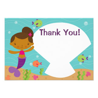 Customizable Kids Mermaid Party Thank You Invite