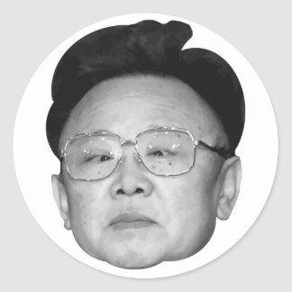 Customizable Kim Jong Il Classic Round Sticker