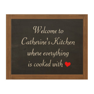 Customizable Kitchen Chalkboard Wood Canvases