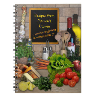 Customizable Kitchen Notebooks