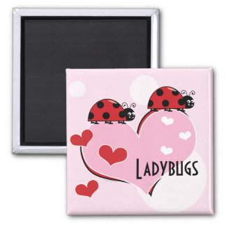 Customizable Ladybugs and Hearts Magnet