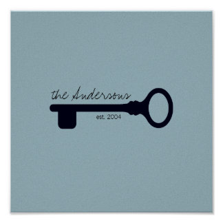 Customizable Last Name & Anniversary Canvas Poster