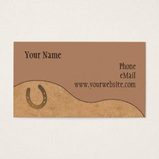 CUSTOMIZABLE Leather & Horseshoe Business Cards