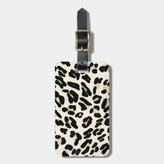 Customizable Leopard Print Luggage Tag