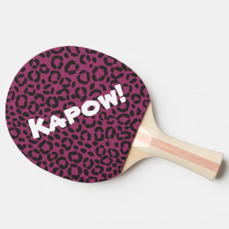 Customizable Leopard Print Table Tennis Bat Ping Pong Paddle