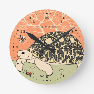 Customizable Leopard Tortoise Clock