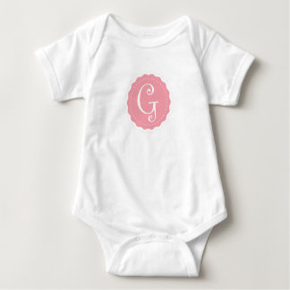 """Customizable Letter """"G"""" Baby Bodysuit"""
