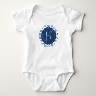 """Customizable Letter """"H"""" Baby Bodysuit"""
