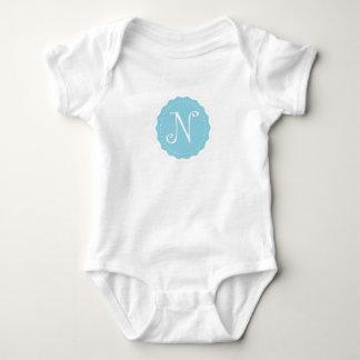 """Customizable Letter """"N"""" Baby Bodysuit"""