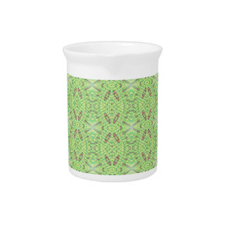 Customizable Light Lime Green Background Beverage Pitcher