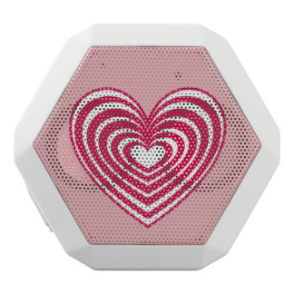 Customizable Lined Heart White Boombot Rex Bluetooth Speaker