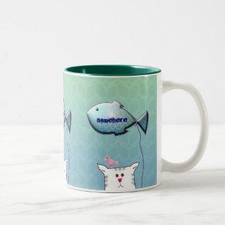 Customizable: Little Alfie balloon Two-Tone Coffee Mug