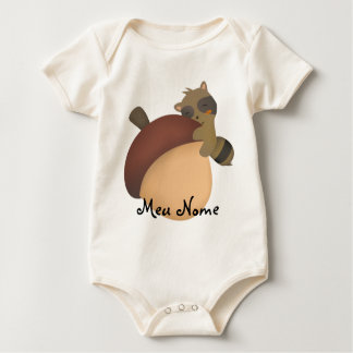Customizable Little Racoon Baby Baby Bodysuit
