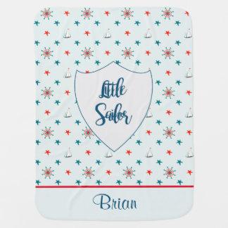 Customizable Little Sailor Swaddle Blankets