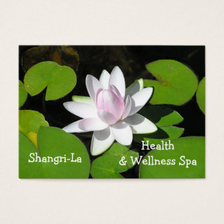 CUSTOMIZABLE/LOTUS BLOSSOM/WHITE WITH PALE PINK BUSINESS CARD