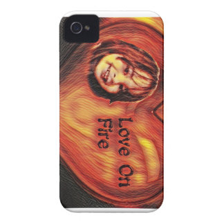 Customizable Love On Fire Heart Design Case-Mate iPhone 4 Cases