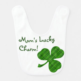 Customizable Lucky Charm Shamrock Baby Bib
