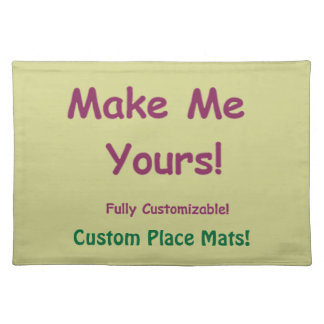 Customizable Machine Washable Table Decor Placemat