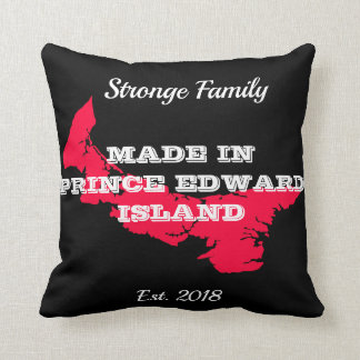 Customizable Made in PEI Throw Pillow