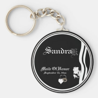 Customizable Maid Of Honor Keepsake Keychain