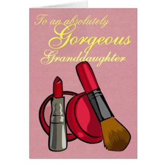 CUSTOMIZABLE Makeup Greeting Card