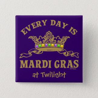 Customizable Mardi Gras 15 Cm Square Badge