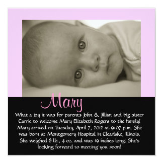 "CUSTOMIZABLE - ""Mary"" Card"