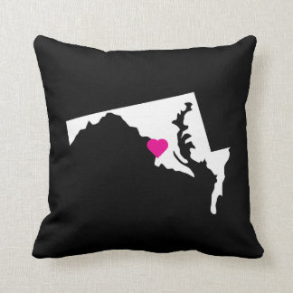 Customizable Maryland State Love Reversible Pillow