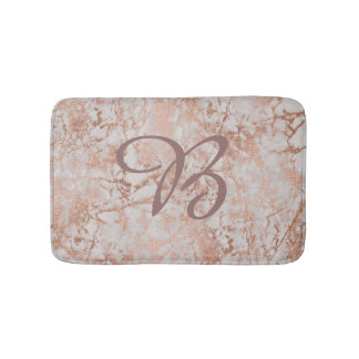Customizable Mat faux Rose Gold with monogram