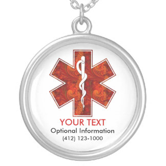 Customizable Medical Alert ID Necklace